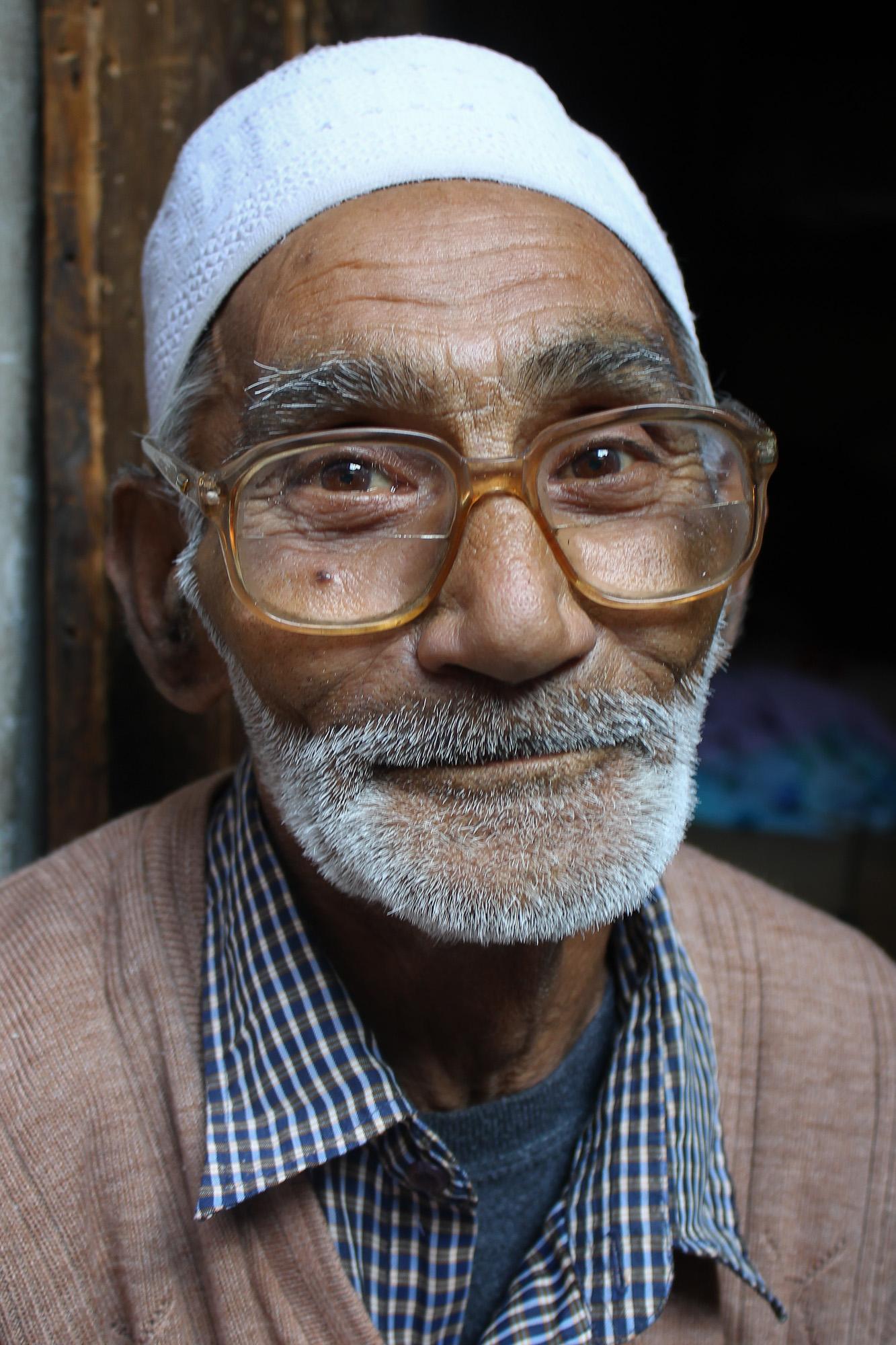 Man we met while walking in the neighborhood markets of Srinagar, Kashmir