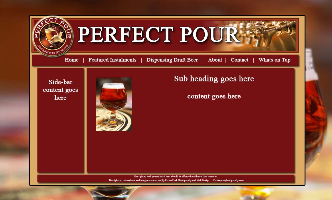 Layout I designed of how this website will look