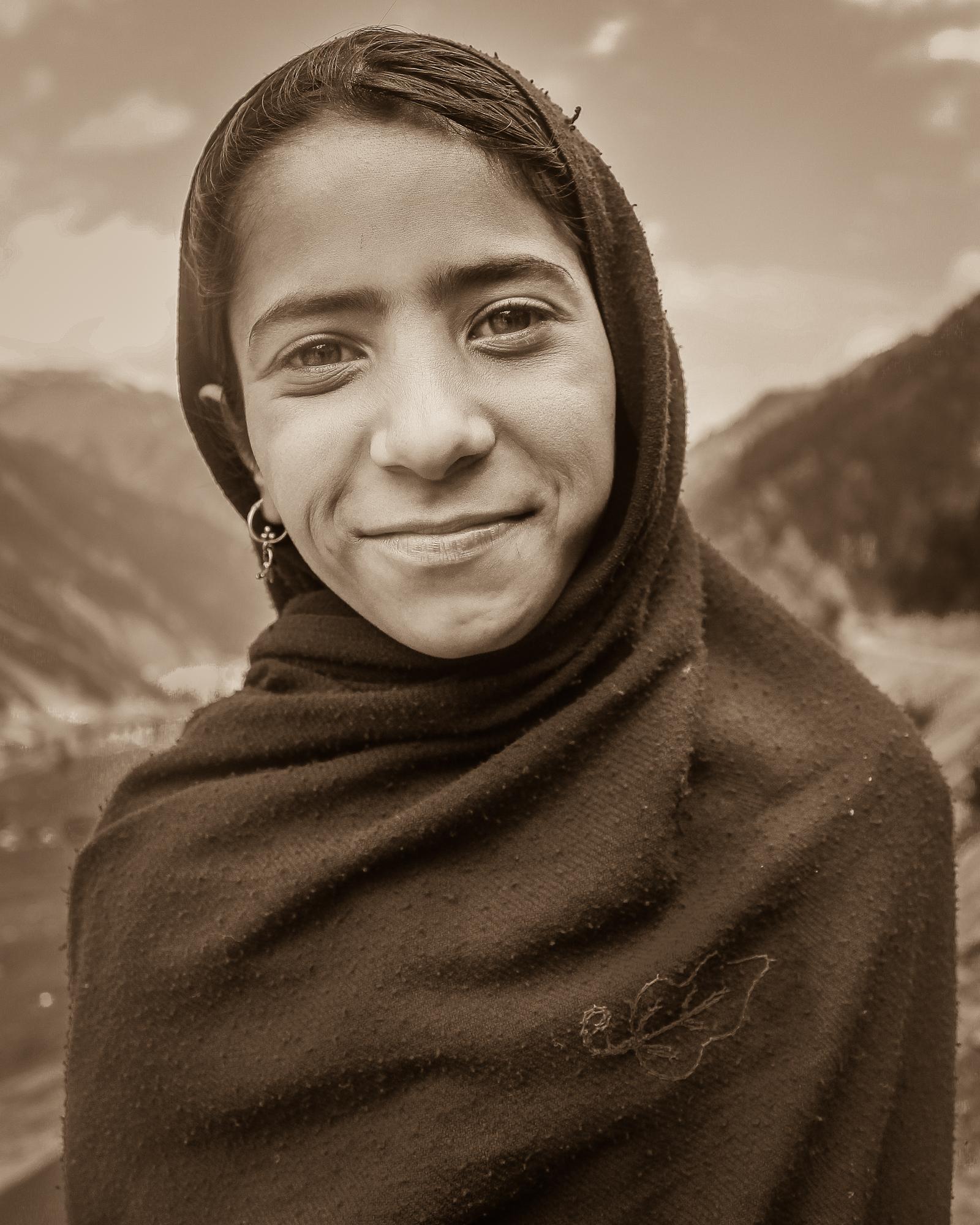 Hitchhiker on the way to Kargil, Kashmir