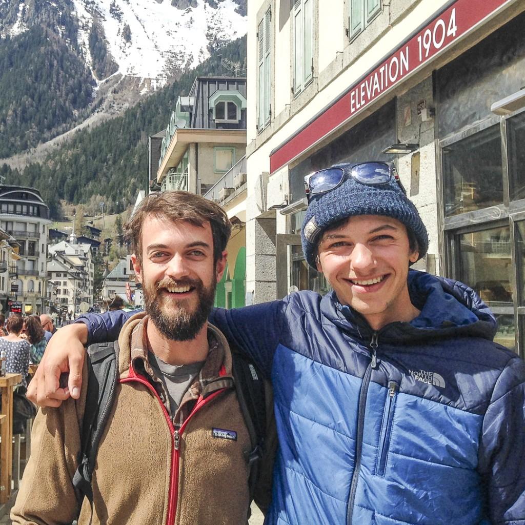 Alex Pullen and Soren Rickards- Chamonix France