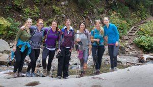 Artist's ready to ascend the Melakwa Lake Trail in Washington State